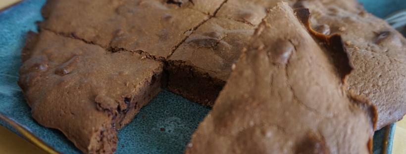 brownies sans beurre aux pépites de chocolat