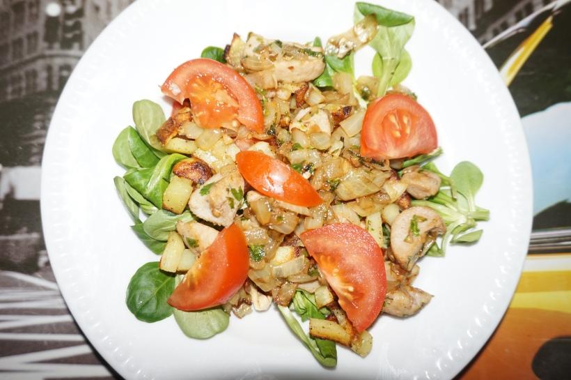 salade testicules de mouton façon gésiers