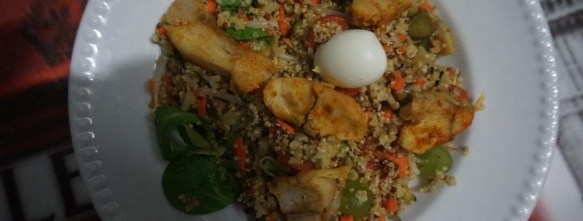 salade quinoa lieu noir épicé