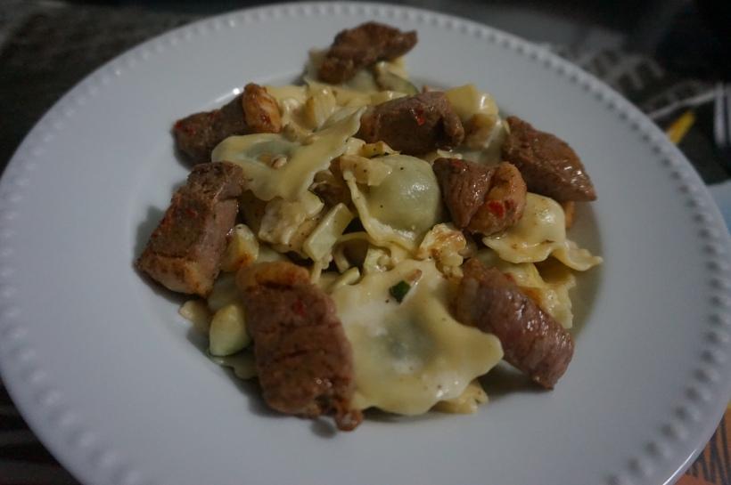 raviolis canard sauce courgette