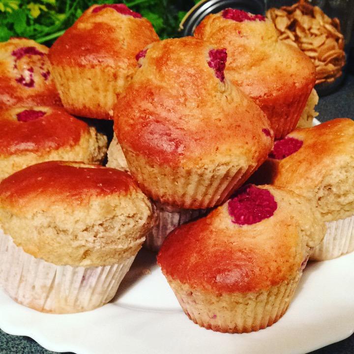 muffins framboises & yaourt