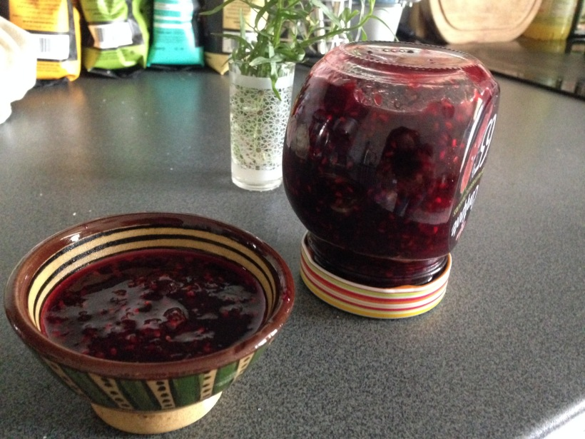 Confiture framboise cassis
