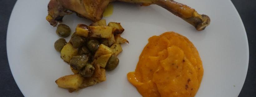 Poulet citron confit olives