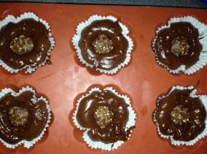 cupcake coeur ferrero deco shokobons