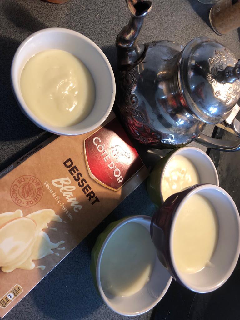 crème chocolat blanc vanille