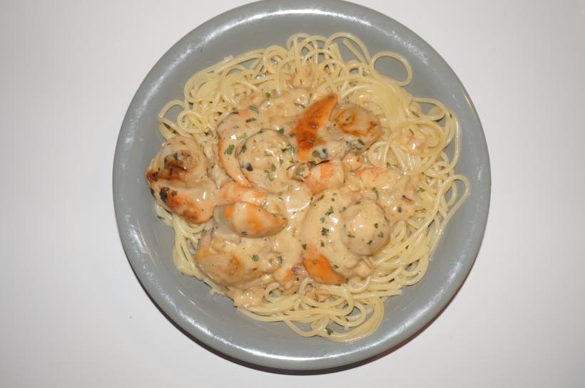 Spaghetti aux Noix de Saint-Jacques à la crème