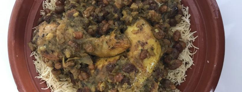 Seffa raisins poulet